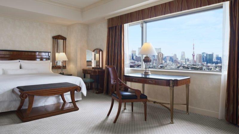 ウェスティンホテルの客室デラックスルーム